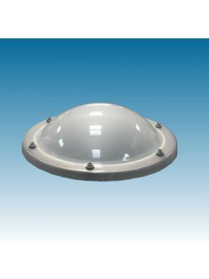 lichtkoepel rond 30 enkelwandig acrylaat (PMMA) bolvormig opaal