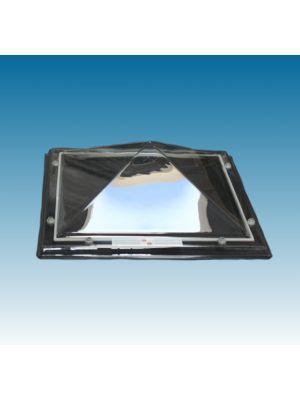 lichtkoepel 130 X 130 driewandig polycarbonaat (PC/PMMA/PC) piramide helder