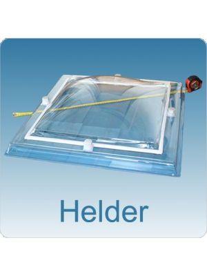 Lichtkoepel enkelwandig acrylaat (PMMA) 130X280 bolvormig helder
