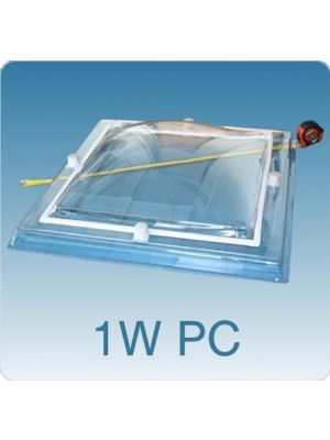 Losse koepel enkelwandig polycarbonaat (PC)