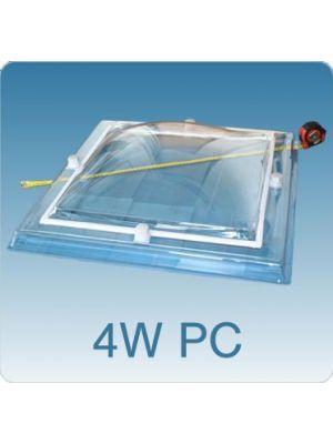 Lichtkoepel vierwandig polycarbonaat (PC/PMMA/PMMA/PMMA)