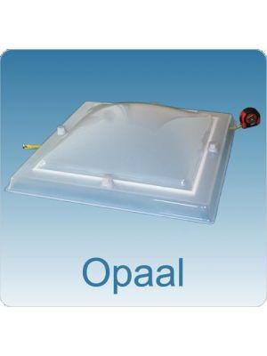 Lichtkoepel dubbelwandig acrylaat (PMMA/PMMA) 200X200 bolvormig opaal